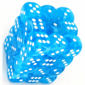 Light Blue & White Cirrus 12mm D6 Dice Block